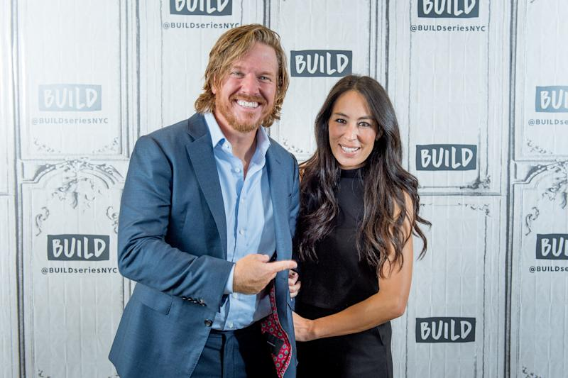 Chip and Joanna Gaines discuss 'Capital Gaines: Smart Things I Learned Doing Stupid Stuff' and the ending of the show 'Fixer Upper' with the Build Series at Build Studio on October 18, 2017 in New York City. (Roy Rochlin via Getty Images)