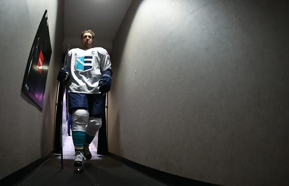 TORONTO, ON - SEPTEMBER 21: Anze Kopitar #11 of Team Europe leaves the ice from warms up prior to a game against Team Canada during the World Cup of Hockey 2016 at Air Canada Centre on September 21, 2016 in Toronto, Ontario, Canada. (Photo by Andre Ringuette/World Cup of Hockey via Getty Images)
