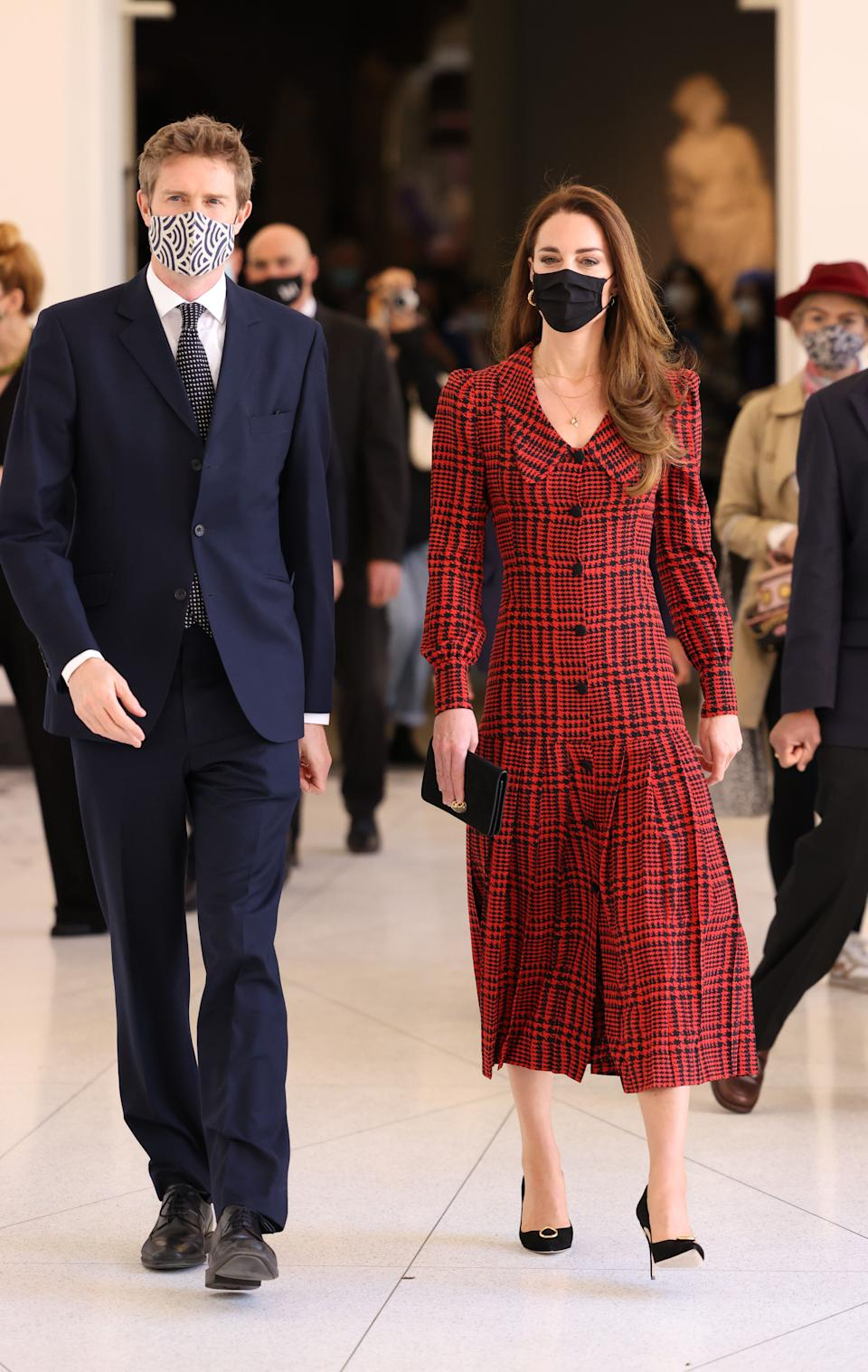 The Duchess of Cambridge with Tristram Hunt, Director, V&A Museum during a visit to V&A Museum in London. Picture date: Wednesday May 19, 2021.