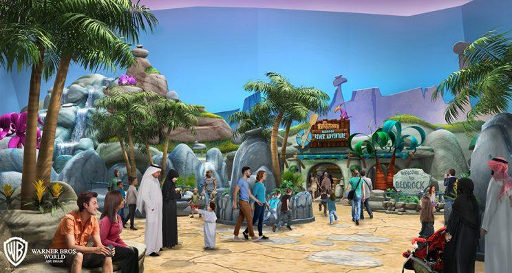 Concept art of Bedrock for proposed Warner Bros. theme park in Abu Dhabi, the United Arab Emirates (Photo: Warner Bros. Consumer Products)
