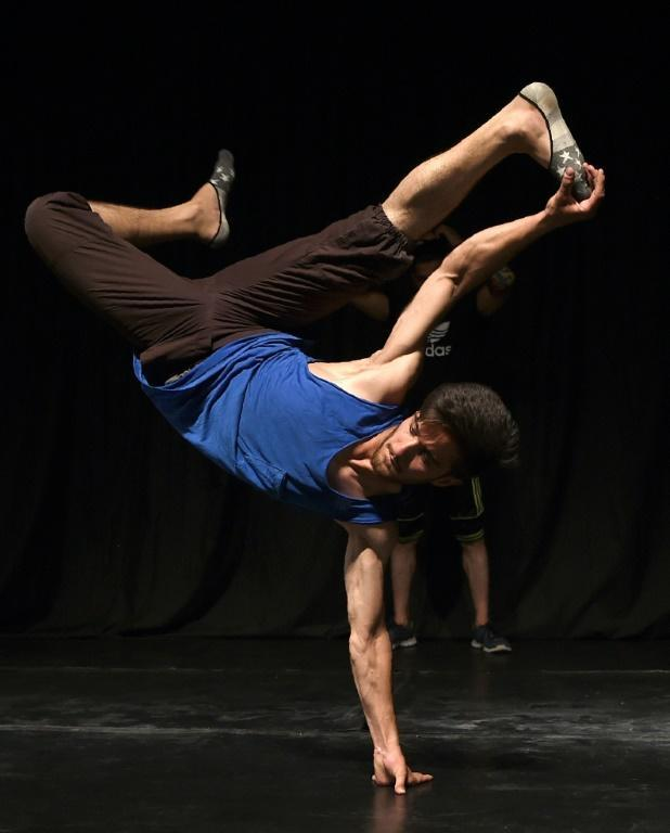 The French Cultural Centre in Kabul is one of the few places in the Afghan capital where breakdancers are able to practise and feel relatively safe (AFP Photo/WAKIL KOHSAR)