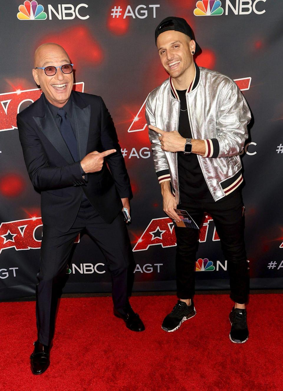 <p>Howie Mandel and Dustin Tavella attend the <em>America's Got Talent</em> season 16 finale at Dolby Theatre on Sept. 15 in Hollywood.</p>
