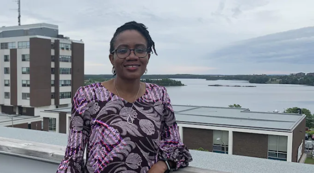 Dr. Omobola Sobanjo has learned French and adapted to life in Quebec's remote Abitibi-Témiscamingue region, where she was one of the key players in the fight against COVID-19. (Annie-Claude Luneau/Radio-Canada - image credit)