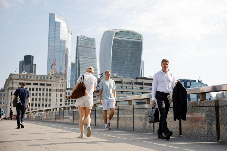 Many London firms are returning to offices in September  (AFP via Getty Images)