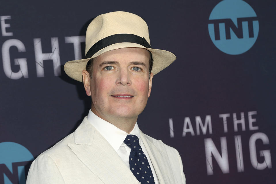"FILE - Jefferson Mays arrives at the ""I Am the Night"" FYC event in Los Angeles on May 9, 2019. Mays, who won a Tony Award for playing 40 characters in ""I Am My Own Wife"" and was nominated for another for playing nine roles in ""A Gentleman's Guide to Love and Murder,"" is readying a new one-man version of ""A Christmas Carol"" for the holidays, playing some 50 characters. (Photo by Willy Sanjuan/Invision/AP, File)"