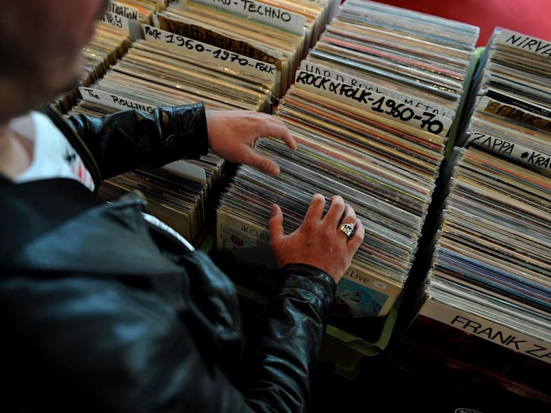 Looking at vinyl records (AFP/Getty)
