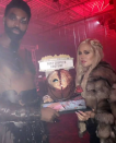 <p>As captured on her Snapchat, Kardashian and her boyfriend won the prize for best couples costume at a Halloween bash for their <i>Game of Thrones</i>-inspired looks. (Photo: Snapchat/Khloé Kardashian) </p>