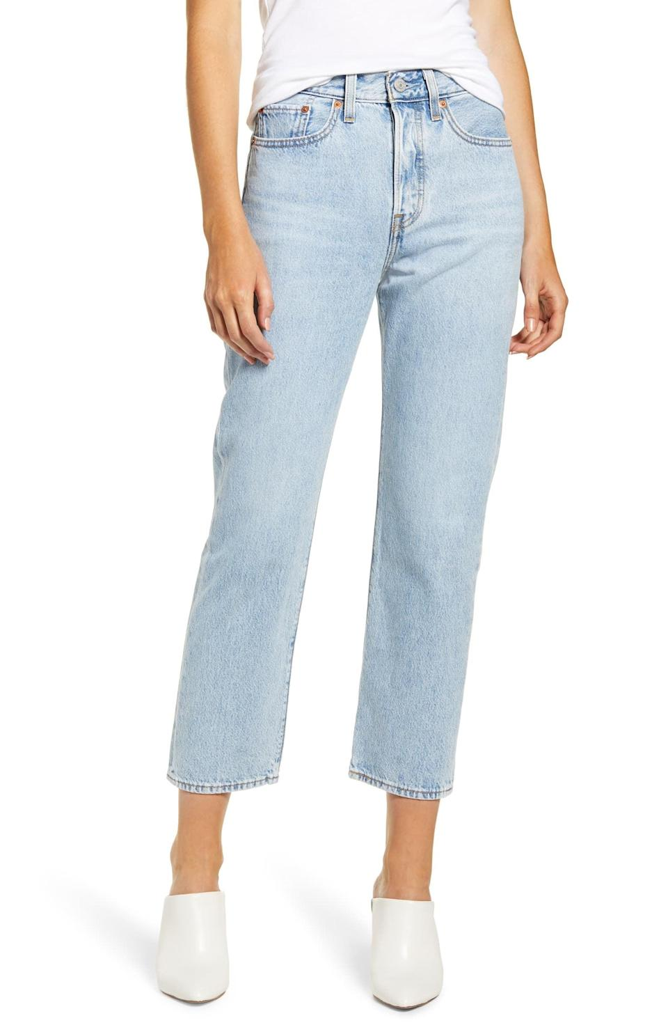 <p>These <span>Levi's Wedgie High-Waist Crop Straight-Leg Jeans</span> ($98) are a new classic. They look great on your butt, which we all love.</p>