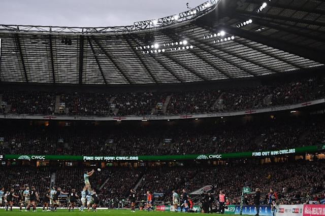 Since rugby union turned professional in 1995, England have played only five home games at anywhere other than 'fortress' Twickenham, pictured here (AFP Photo/Ben STANSALL)