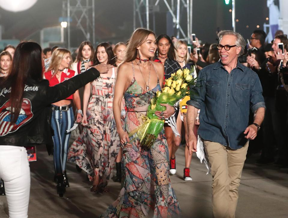 <p>February 2017 marked the opening of TommyLand. LA's Venice Beach played host to the second mega show between Gigi Hadid and Tommy Hilfiger.<br><i>[Photo: Getty]</i> </p>