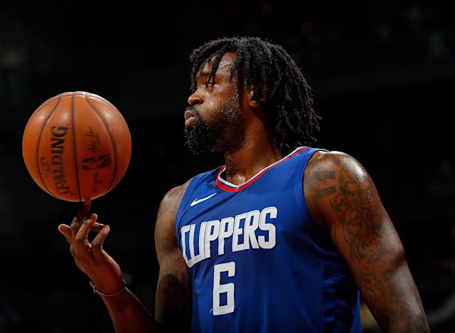 "<a class=""link rapid-noclick-resp"" href=""/nba/players/4497/"" data-ylk=""slk:DeAndre Jordan"">DeAndre Jordan</a> will reportedly opt out of his deal with the <a class=""link rapid-noclick-resp"" href=""/nba/teams/lac"" data-ylk=""slk:Los Angeles Clippers"">Los Angeles Clippers</a>, and will become an unrestricted free agent. (Getty Images)"
