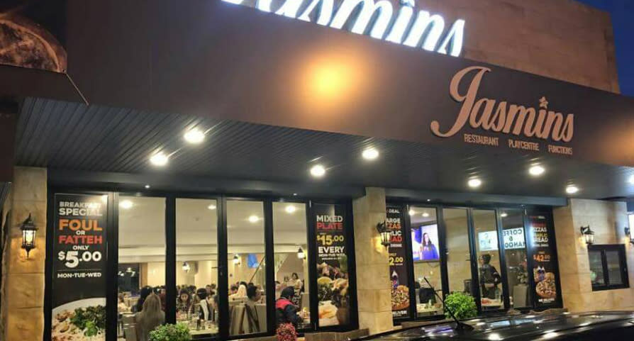 Outside of Jasmins Liverpool is pictured.