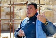 Franco Sciorilli, an Italian expert, supervises workers employed under the UNESCO pilot project