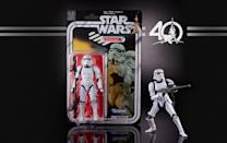 """<p><a href=""""https://www.yahoo.com/entertainment/the-first-worst-star-wars-christmas-a-look-182628649.html"""" data-ylk=""""slk:Forty Christmases ago, kids were stuck getting empty boxes because Star Wars toys weren't available yet;outcm:mb_qualified_link;_E:mb_qualified_link;ct:story;"""" class=""""link rapid-noclick-resp yahoo-link"""">Forty Christmases ago, kids were stuck getting empty boxes because <i>Star Wars</i> toys weren't available yet</a>. This year, Hasbro has righted that epic wrong, with these intricately detailed deluxe, fully articulated and accessorized 6-inch versions of the 12 vintage first-wave action figures, complete with throwback packaging.<br><strong>Buy: <a href=""""https://starwars.hasbro.com/en-us/product/star-wars-the-black-series-40-th-anniversary-legacy-pack:6B8F7E48-5056-9047-F5FD-C84D1A840FFF"""" rel=""""nofollow noopener"""" target=""""_blank"""" data-ylk=""""slk:Hasbro.com"""" class=""""link rapid-noclick-resp"""">Hasbro.com</a></strong> </p>"""