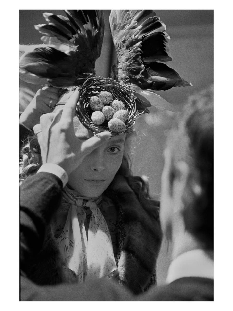 """Cycle, 2006,""""The Widows of Culloden,"""" fall 2006 with headpiece by Philip Treacy and Swarovski crystal eggs by Shaun Leane. - Credit: Anna Ray/Courtesy of Barrett Barrera Projects & RKL Consulting"""