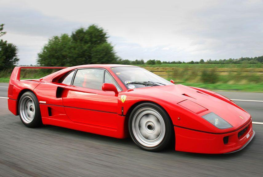 <p>The hallowed F40 is an icon of automotive enthusiasm. With its terrifyingly turbocharged V-8, it was the first production car ever to cross the 200 mph barrier.</p>