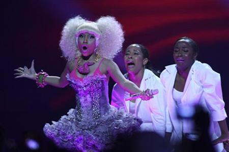 Nicki Minaj performs during the second day of the iHeartRadio Music Festival at the MGM Grand Garden Arena in Las Vegas