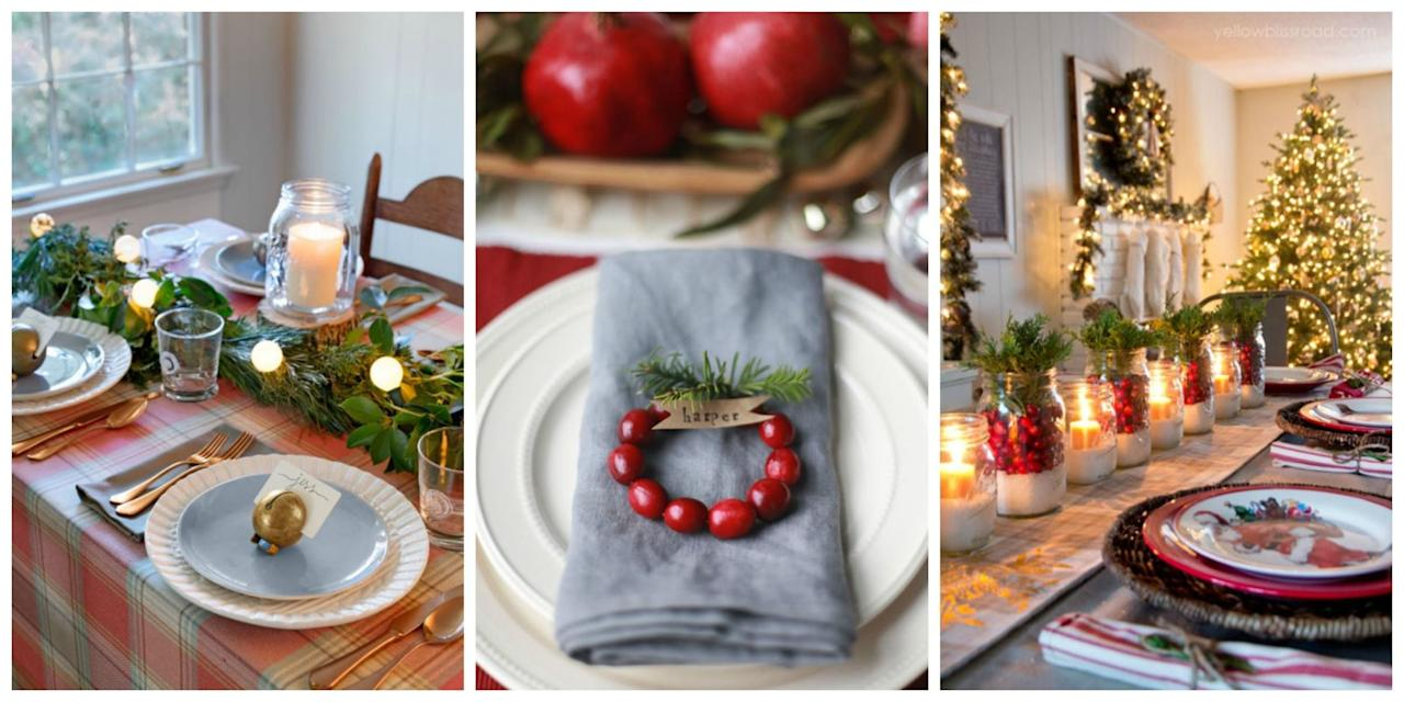 """<p>Hosting a get-together for family and friends this <a rel=""""nofollow"""" href=""""http://www.countryliving.com/christmas-ideas/"""">Christmas</a>? Get inspired to make your holiday table sparkle with these ideas for special decorations and dazzling centerpieces.</p>"""