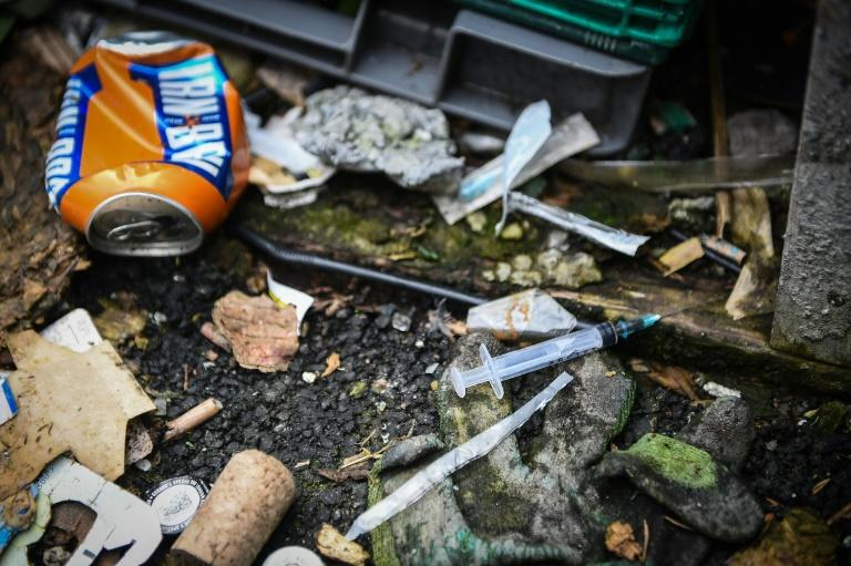 Annual drug death statistics released in July by the Scottish records office show that multiple substance abuse is to blame in the vast majority of victims' cases (AFP Photo/ANDY BUCHANAN)