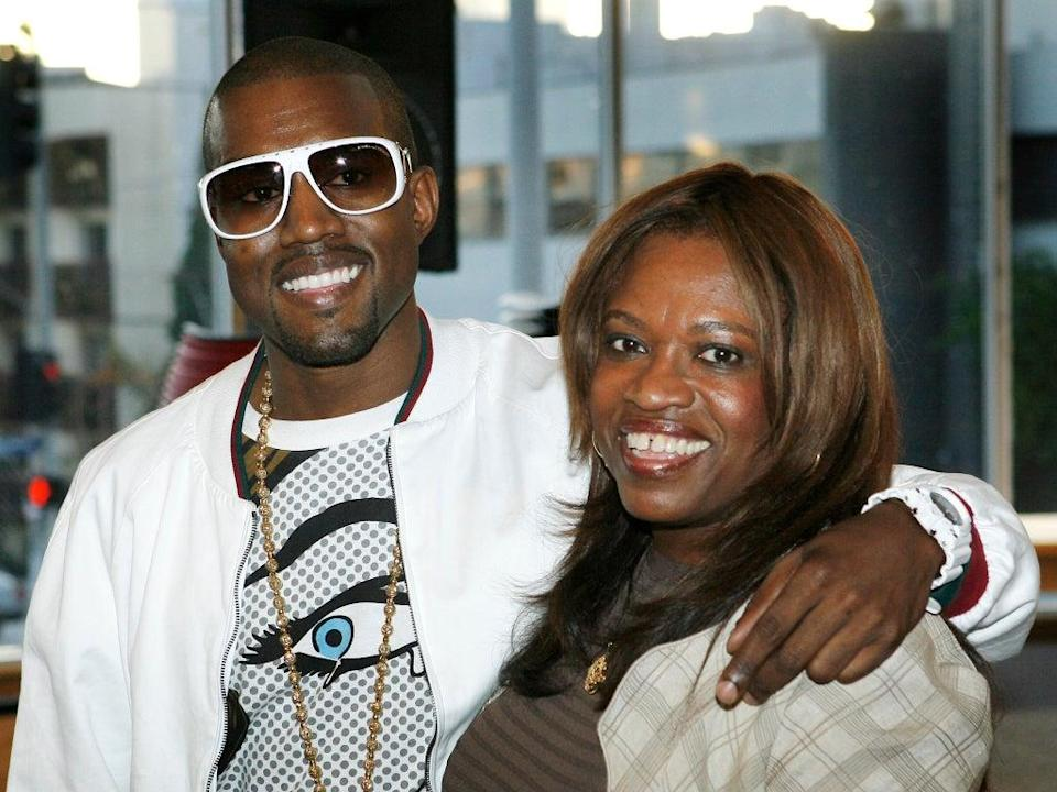 Kanye West and his late mother Donda, who serves as the inspiration for his just-released tenth album (Vince Bucci/Getty Images)