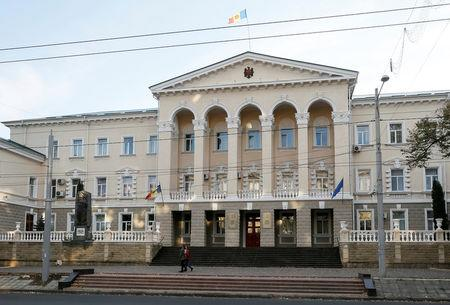 FILE PHOTO: The building of Moldova's ministry of Internal Affairs is pictured in central Chisinau