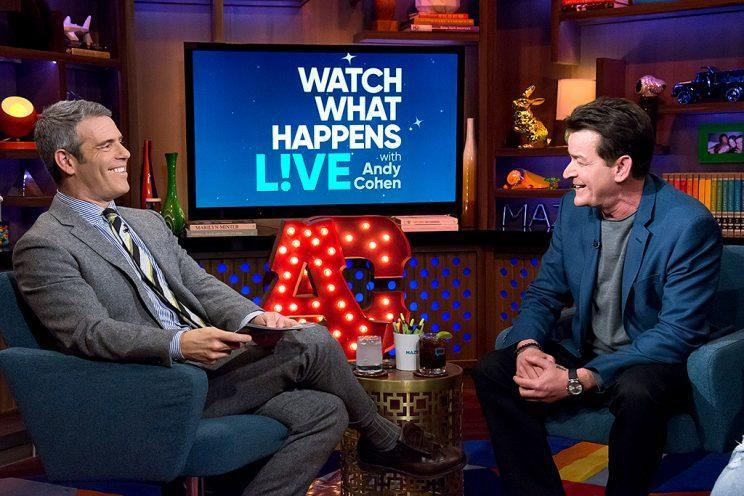 Andy Cohen and Charlie Sheen.
