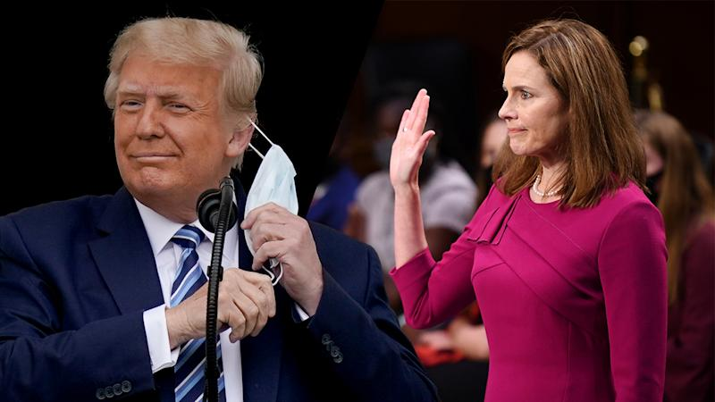 President Trump and Amy Coney Barrett
