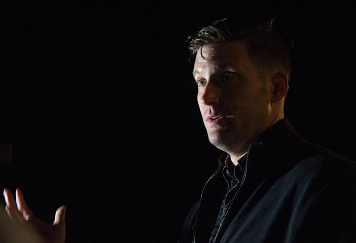 Richard Spencer speaks during an interview with HuffPost.