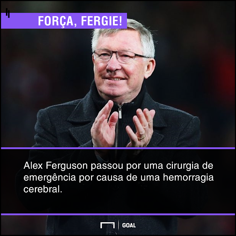 Ex-técnico do United, Ferguson é internado em estado grave