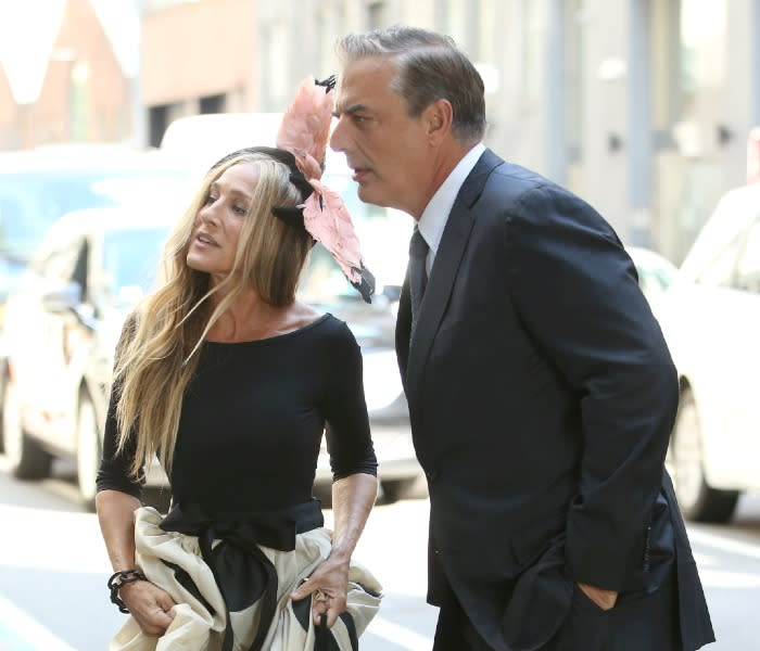 Sarah Jessica Parker y Chris North en And just like that