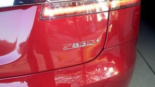 2015 Tesla Model S P85D with Ludicrous badge added [photo: George Parrott]