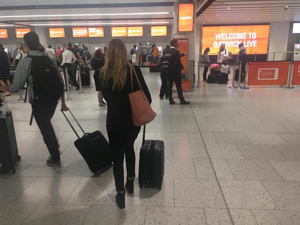 Going places? Gatwick is the main base for easyJet and is seeing the most disruption: Simon Calder