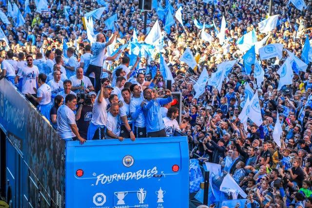 City won the domestic treble two years ago
