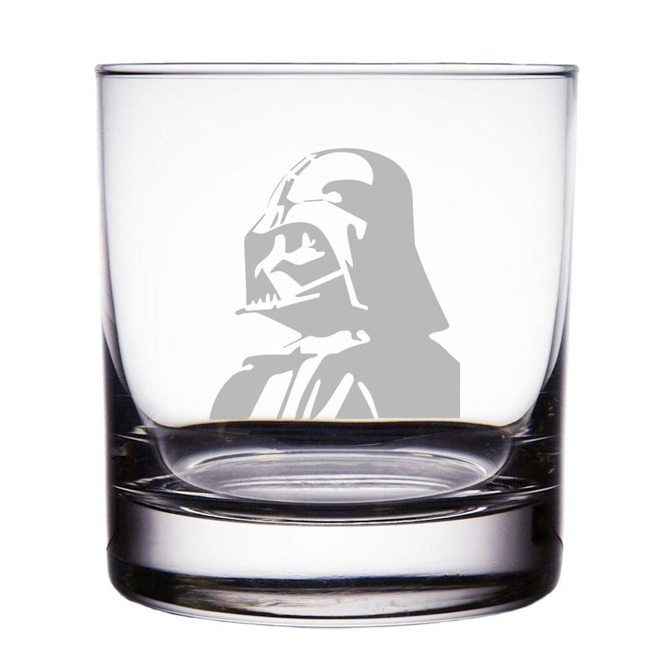 <p>You'll appreciate this <span>Darth Vader Star Wars Engraved Rock Glass</span> ($20) after a long day at the office.</p>
