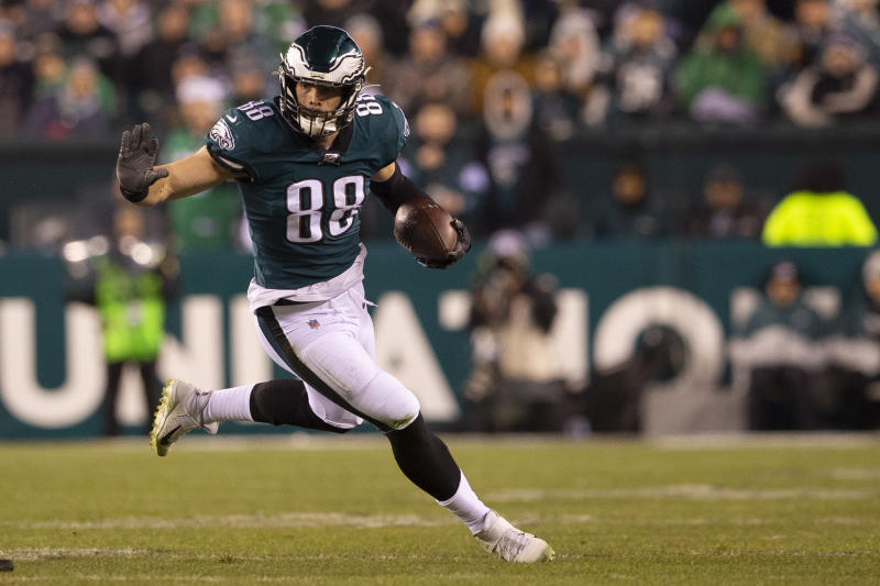 Philadelphia Eagles tight end Dallas Goedert was taken to a hospital briefly on Friday night after being punched at a restaurant, but is unharmed.