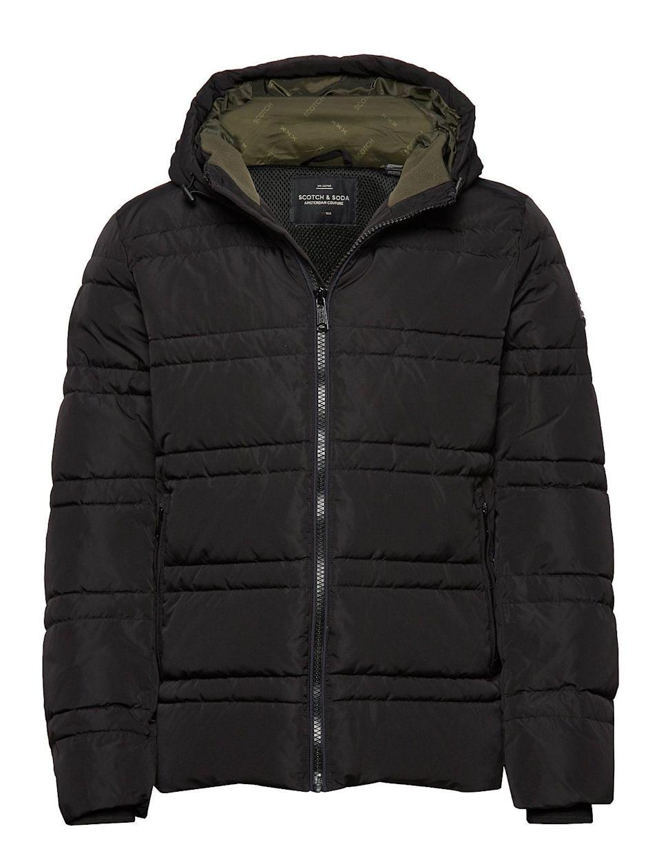 """<p><strong>Scotch & Soda</strong></p><p>amazon.com</p><p><strong>$139.99</strong></p><p><a href=""""https://www.amazon.com/dp/B07MSQ5KP2?tag=syn-yahoo-20&ascsubtag=%5Bartid%7C10063.g.34824549%5Bsrc%7Cyahoo-us"""" rel=""""nofollow noopener"""" target=""""_blank"""" data-ylk=""""slk:Shop Now"""" class=""""link rapid-noclick-resp"""">Shop Now</a></p><p>This jacket's detailed sleeves and tailored fit render it a sharp and timeless winter staple.</p>"""