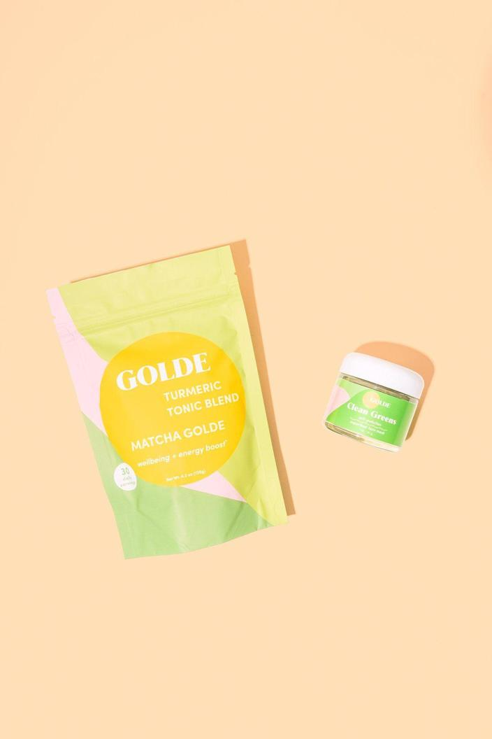"""<p><strong>Green Detox Tea And Face Mask Kit</strong></p><p>golde.co</p><p><strong>$58.00</strong></p><p><a href=""""https://go.redirectingat.com?id=74968X1596630&url=https%3A%2F%2Fgolde.co%2Fproducts%2Fnew-supergreens-kit-save-5&sref=https%3A%2F%2Fwww.delish.com%2Fkitchen-tools%2Fcookware-reviews%2Fg32754649%2Fblack-owned-food-businesses%2F"""" rel=""""nofollow noopener"""" target=""""_blank"""" data-ylk=""""slk:BUY NOW"""" class=""""link rapid-noclick-resp"""">BUY NOW</a></p><p>Speaking of plant-powered products, <a href=""""https://golde.co/"""" rel=""""nofollow noopener"""" target=""""_blank"""" data-ylk=""""slk:Golde"""" class=""""link rapid-noclick-resp"""">Golde</a> sells superfood powders with ingredients like matcha, turmeric, and cacao. My favorite way to have the <a href=""""https://go.redirectingat.com?id=74968X1596630&url=https%3A%2F%2Fgolde.co%2Fproducts%2Fgolde-turmeric-powder&sref=https%3A%2F%2Fwww.delish.com%2Fkitchen-tools%2Fcookware-reviews%2Fg32754649%2Fblack-owned-food-businesses%2F"""" rel=""""nofollow noopener"""" target=""""_blank"""" data-ylk=""""slk:original tonic"""" class=""""link rapid-noclick-resp"""">original tonic</a> is blended into a smoothie with fruit and non-dairy yogurt. It adds a rich flavor (thanks to hints of cinnamon and ginger) and is specially formulated to boost gut and immune health. They also sell <a href=""""https://go.redirectingat.com?id=74968X1596630&url=https%3A%2F%2Fgolde.co%2Fcollections%2Fbeauty&sref=https%3A%2F%2Fwww.delish.com%2Fkitchen-tools%2Fcookware-reviews%2Fg32754649%2Fblack-owned-food-businesses%2F"""" rel=""""nofollow noopener"""" target=""""_blank"""" data-ylk=""""slk:beauty products"""" class=""""link rapid-noclick-resp"""">beauty products</a> made with superfoods.</p>"""