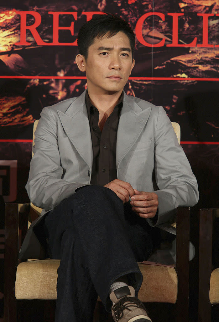 BEIJING, CHINA - MAY 10: (CHINA OUT) Actor Tony Leung attends a press conference for the John Woo film 'The Battle of Red Cliff' on May 10, 2007 in Beijing, China. (Photo by Visual China Group via Getty Images)