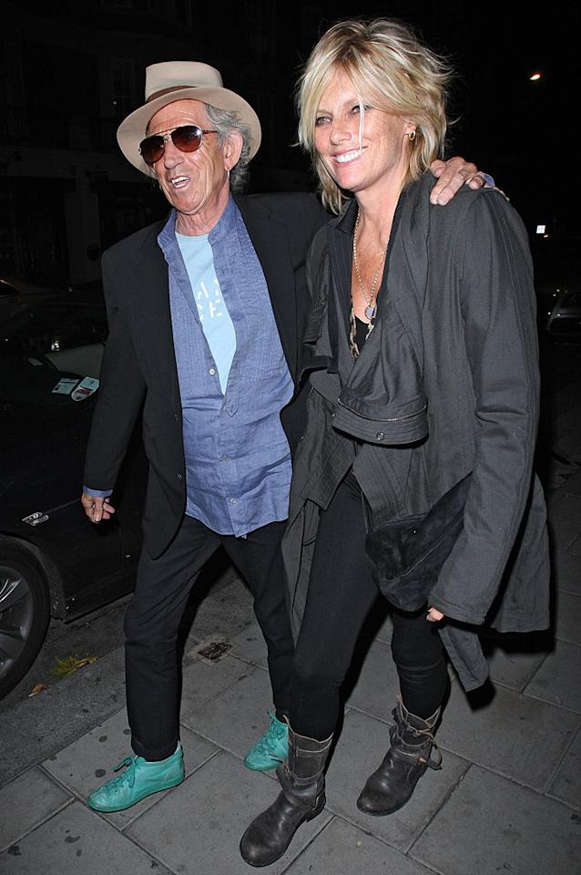 "Although Keith brought his model wife of 26 years -- Patti Hansen -- along for the festivities, we have a feeling the evening quickly turned into a boys' night out! Spiller/<a href=""http://www.infdaily.com"" target=""new"">INFDaily.com</a> - September 15, 2010"