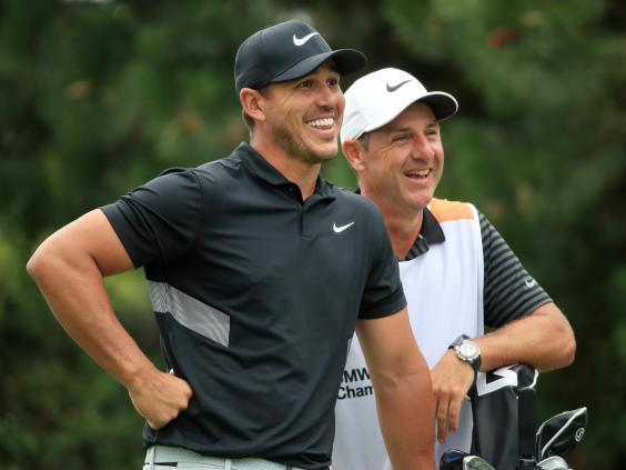 Brooks Koepka is two shots behind Justin Thomas entering Thursday (Getty)