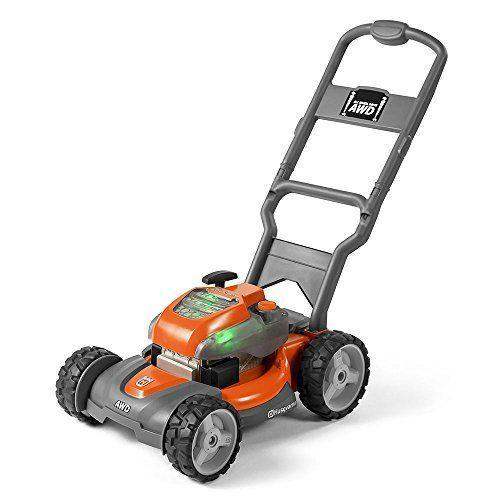"""<p><strong>Husqvarna</strong></p><p>amazon.com</p><p><strong>$36.62</strong></p><p><a href=""""https://www.amazon.com/dp/B01NBKYBTG?tag=syn-yahoo-20&ascsubtag=%5Bartid%7C2089.g.37090434%5Bsrc%7Cyahoo-us"""" rel=""""nofollow noopener"""" target=""""_blank"""" data-ylk=""""slk:Shop Now"""" class=""""link rapid-noclick-resp"""">Shop Now</a></p><p>Get your kid a pair of white New Balance and a thermal cup because they're going to feel like staring out at their beautiful lawn, just like Dad with this realistic toy lawn mower. </p><p>It's powered with three AAA batteries, and reviewers on Amazon promise that kids absolutely love it. </p><p><strong>More</strong>: <a href=""""https://www.bestproducts.com/parenting/kids/g1121/best-toys-for-kids/"""" rel=""""nofollow noopener"""" target=""""_blank"""" data-ylk=""""slk:The Very Best Toys for Kids"""" class=""""link rapid-noclick-resp"""">The Very Best Toys for Kids</a></p>"""