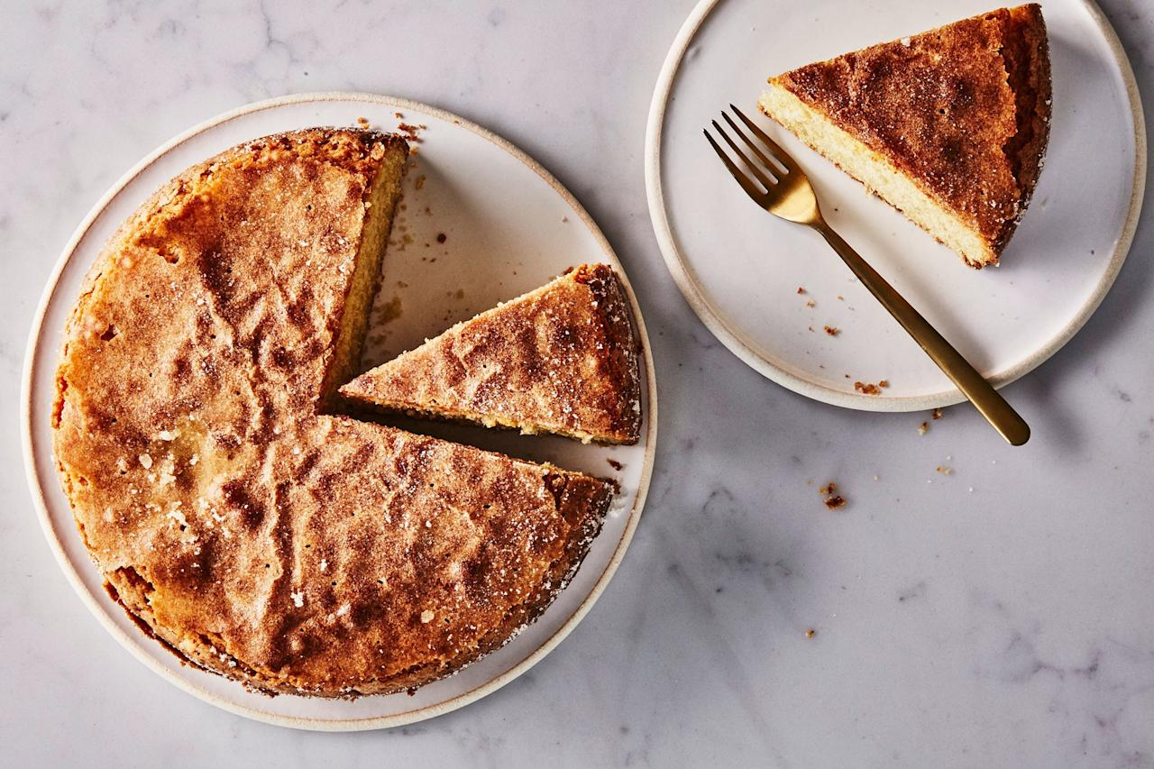 """Even die-hard butter devotees admit that olive oil makes exceptionally good cakes—and this ultra-moist amaretto dessert is no exception. It has a pleasant hint of citrus, and the almond flour gives it a naturally sweet, nutty flavor. <a href=""""https://www.epicurious.com/recipes/food/views/olive-oil-cake?mbid=synd_yahoo_rss"""">See recipe.</a>"""