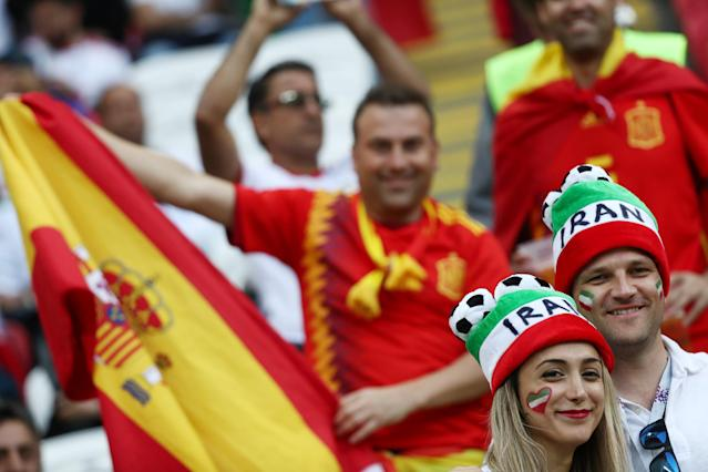 Soccer Football - World Cup - Group B - Iran vs Spain - Kazan Arena, Kazan, Russia - June 20, 2018 Fans inside the stadium before the match REUTERS/Sergio Perez