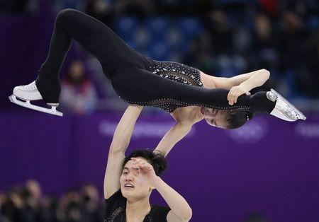 Figure Skating – Pyeongchang 2018 Winter Olympics – Pair Skating free skating competition final – Gangneung Ice Arena - Gangneung, South Korea – February 15, 2018 - Ryom Tae Ok and Kim Ju Sik of North Korea compete. REUTERS/Lucy Nicholson