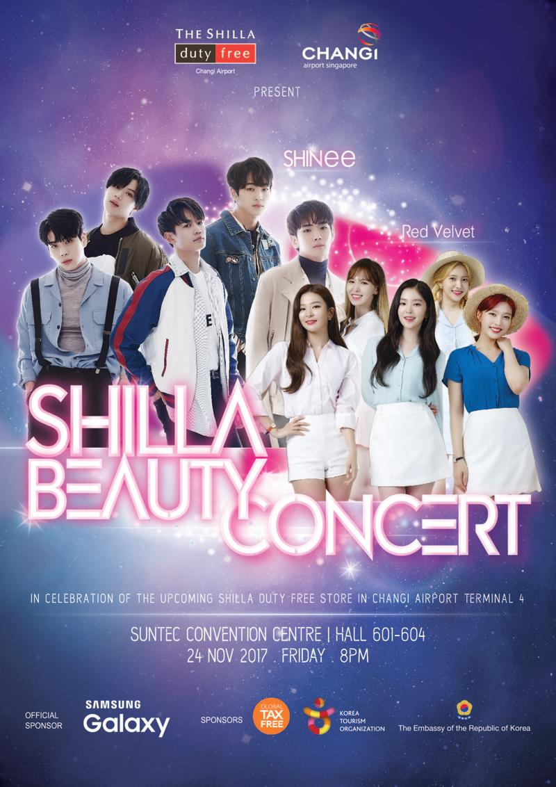 Poster for Shilla Beauty Concert (Photo: The Shilly Duty Free Singapore)