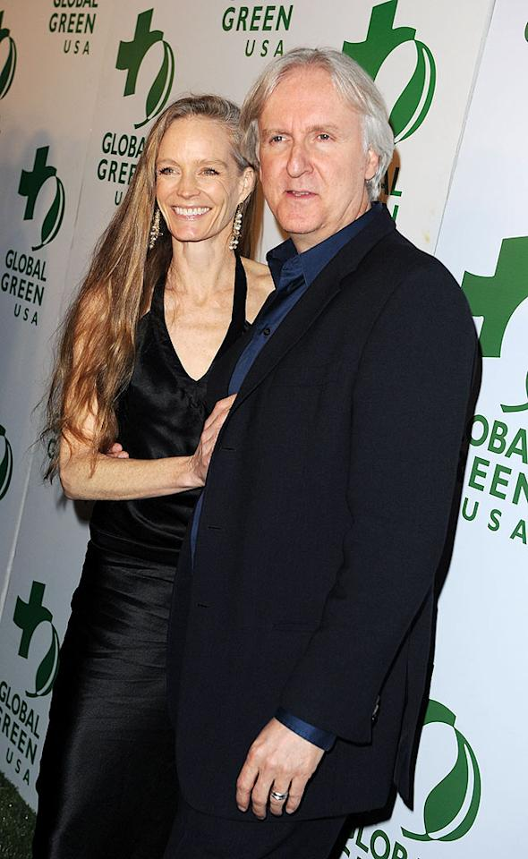 """""""Avatar"""" director James Cameron and wife Suzy Amis did more than celebrate his blockbuster flick's nine Oscar nods at the fete. Both were part of the host committee, and Suzy previewed her red carpet look for Sunday by setting up a display of her eco-friendly gown. Jason Merritt/<a href=""""http://www.gettyimages.com/"""" target=""""new"""">GettyImages.com</a> - March 3, 2010"""