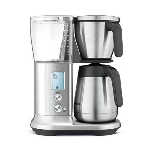 """<p><strong>Breville</strong></p><p><strong>$299.95</strong></p><p><a href=""""https://www.amazon.com/Breville-BDC450-Precision-Brewer-Thermal/dp/B078RQVQF1/?tag=syn-yahoo-20&ascsubtag=%5Bartid%7C10055.g.2083%5Bsrc%7Cyahoo-us"""" rel=""""nofollow noopener"""" target=""""_blank"""" data-ylk=""""slk:Shop Now"""" class=""""link rapid-noclick-resp"""">Shop Now</a></p><p>Breville's Precision Brewer is stacked with features that allow you to fully customize your coffee, like <strong>adjustable brew temperature, bloom time, strength and more.</strong> It has settings for making cold brew, iced coffee, or the <a href=""""http://scaa.org/PDF/resources/golden-cup-standard.pdf"""" rel=""""nofollow noopener"""" target=""""_blank"""" data-ylk=""""slk:Specialty Coffee Association's standard Golden Cup"""" class=""""link rapid-noclick-resp"""">Specialty Coffee Association's standard Golden Cup</a>. It's beautifully designed thanks to its sleek brushed stainless steel exterior and LED-lit digital display. </p>"""