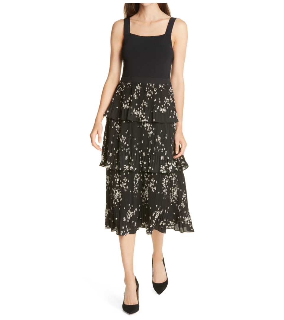 Ted Baker London Betee Mix Media Tiered Sleeveless Dress. Image via Nordstrom.