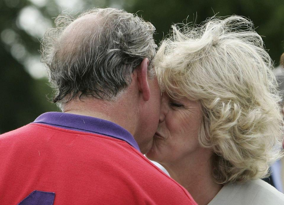 <p>This rare public display of affection from Charles and Camilla took place at a polo match at Cirencester.</p>