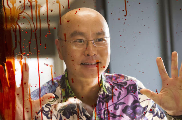 "C.S. Lee as Vince Masuka in the ""Dexter"" Season 8 premiere, ""A Beautiful Day."""